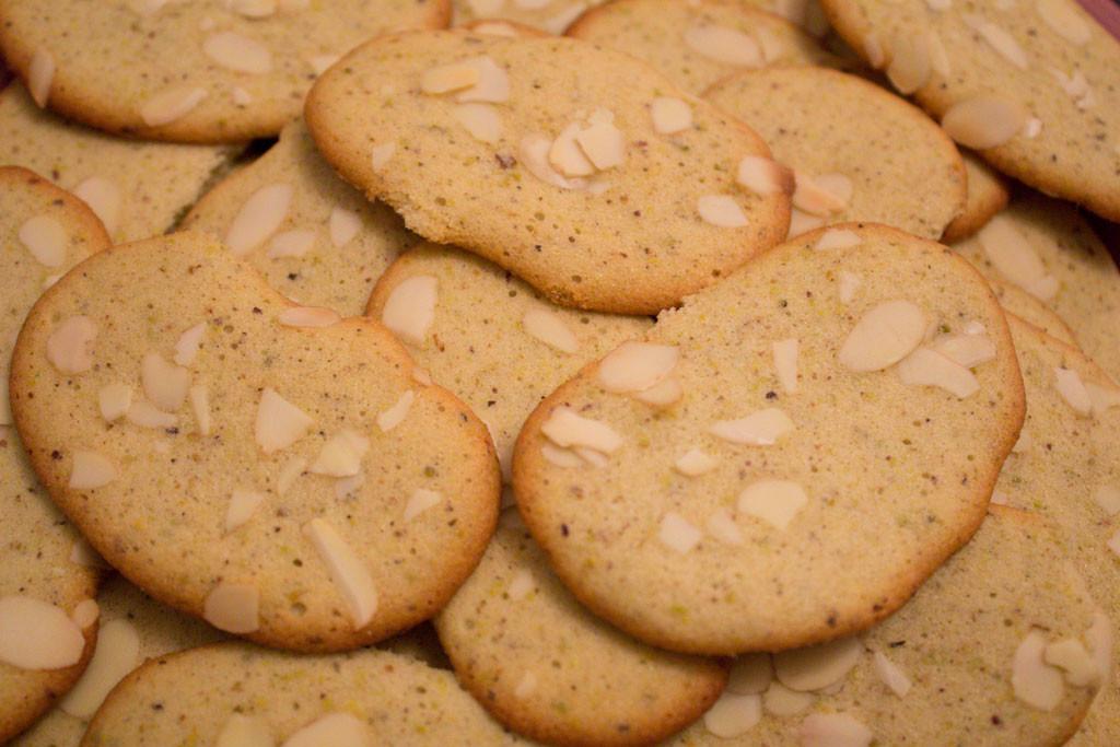 biscotti ai pistacchi con mandorle