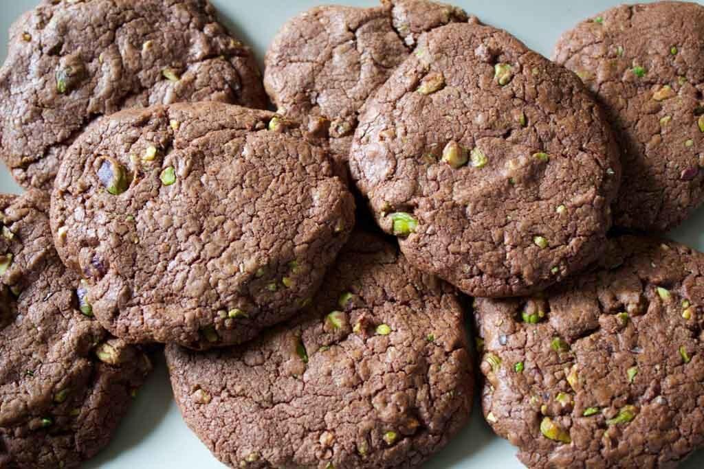biscotti cioccolato e pistacchi