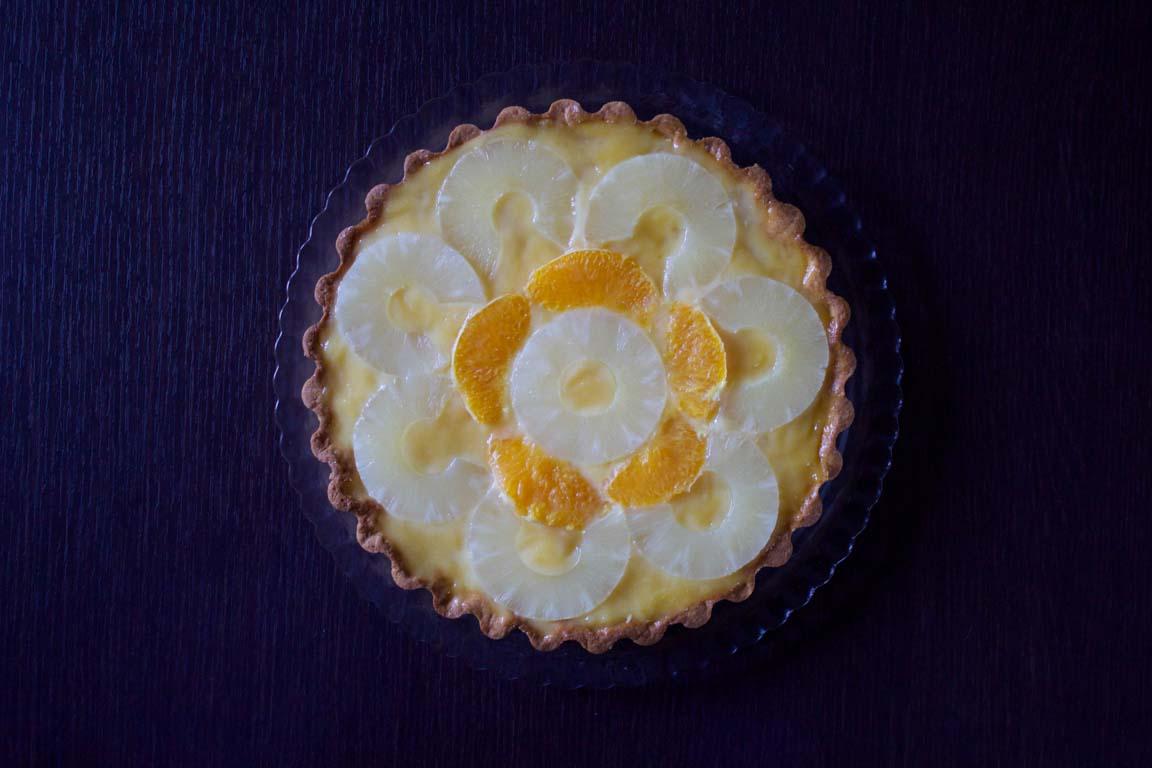 crostata agrumi e ananas