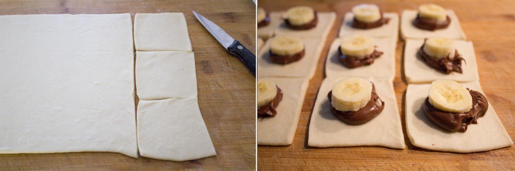 barchette_sfoglia_banane_nutella_preparazione