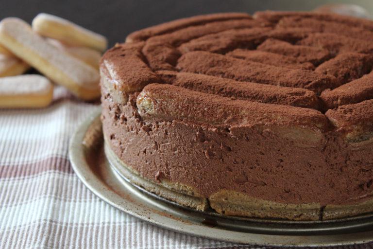 torta fredda al cioccolato e savoiardi
