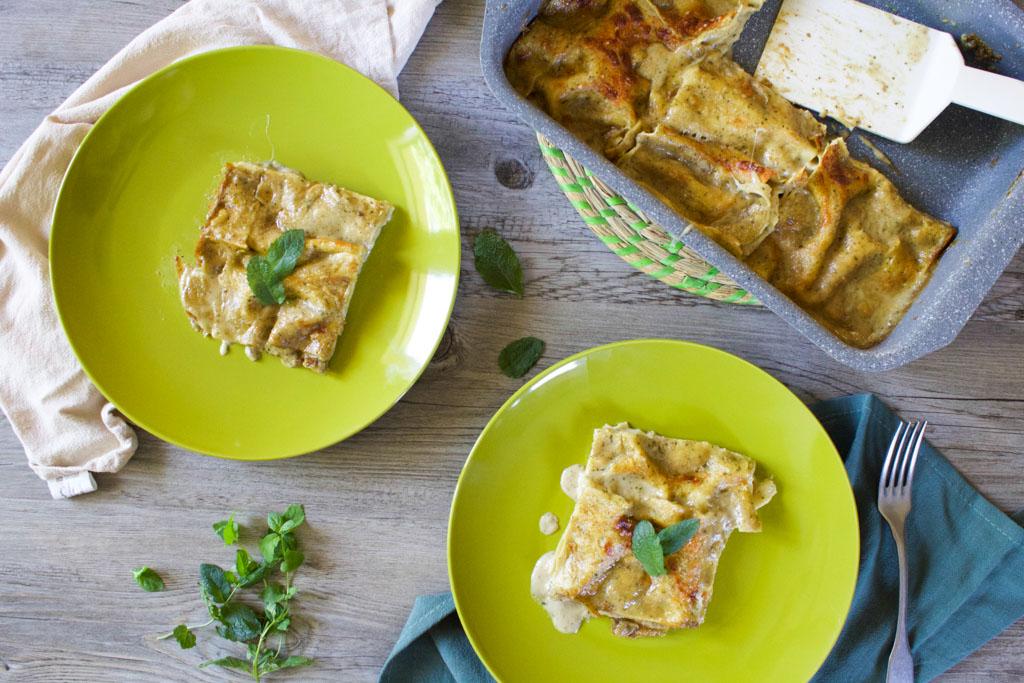 lasagne con melanzane menta