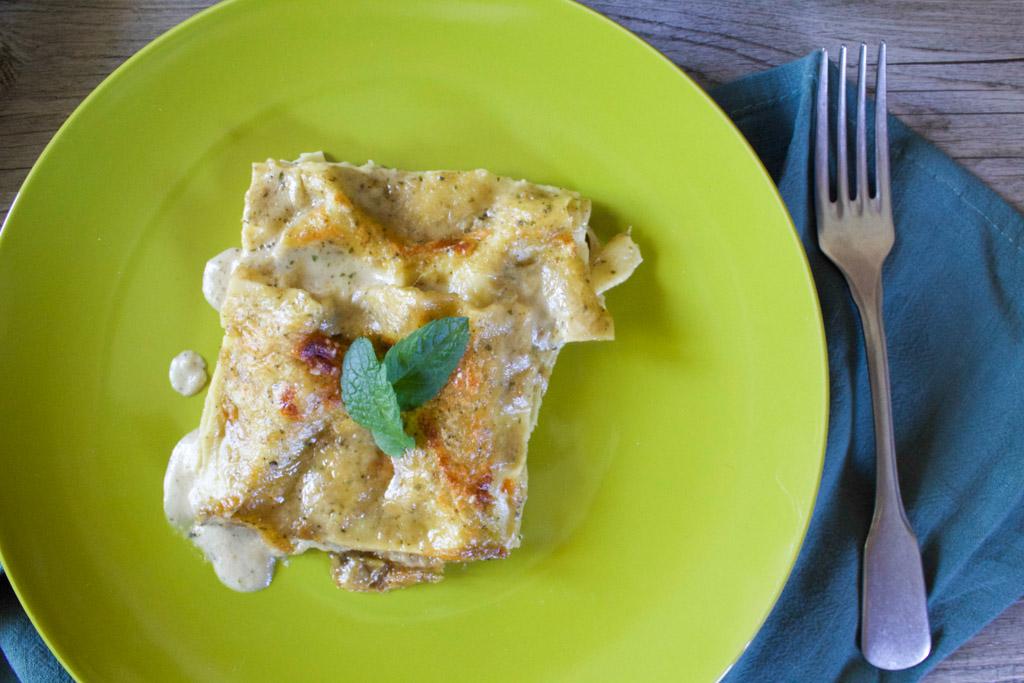 lasagne melanzane menta