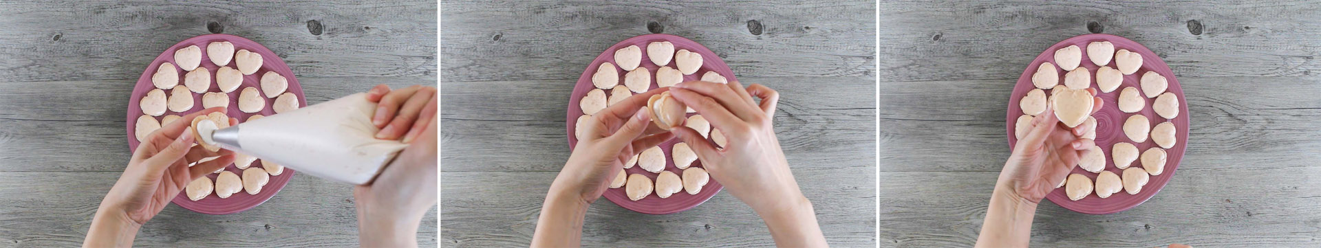 preparazione macarons san valentino step8