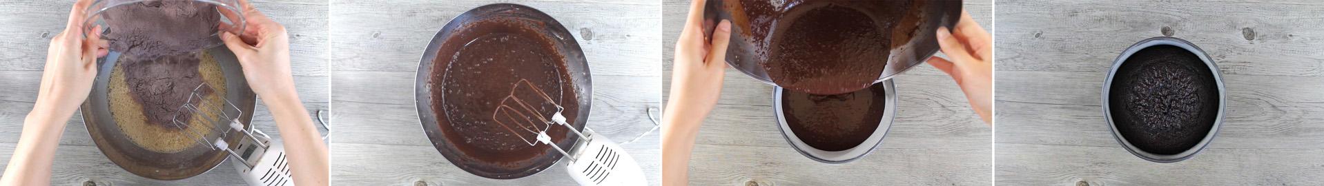 preparazione torta al cioccolato al fondente