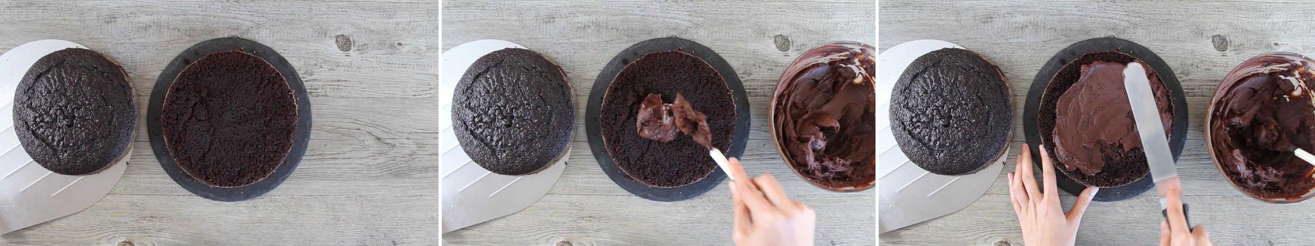 composizione torta al cioccolato fondente