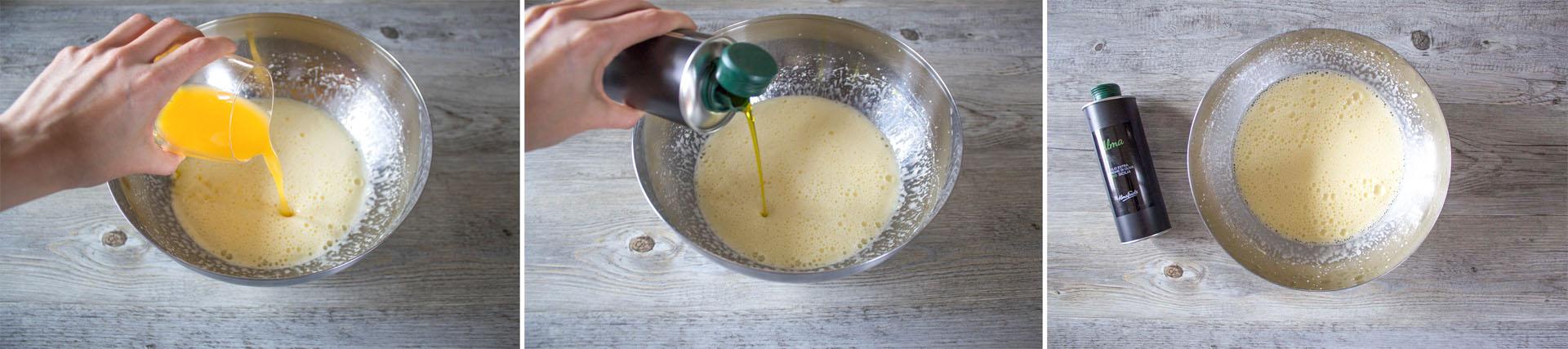 torta olio oliva arance mandorle step2