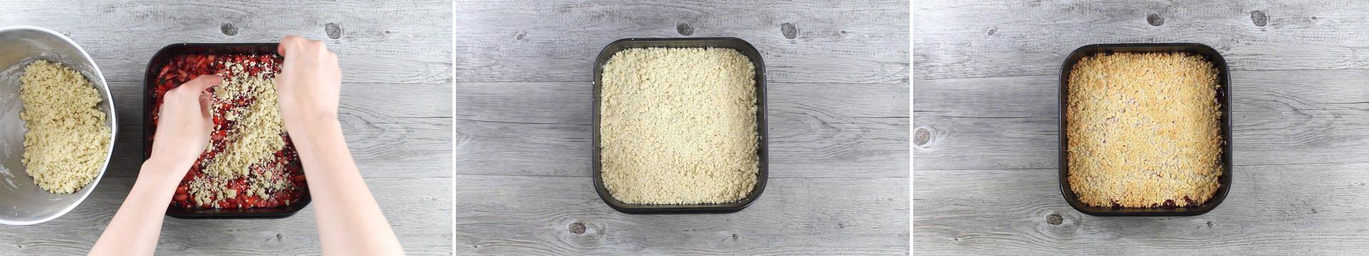 preparazione crostata fragolina