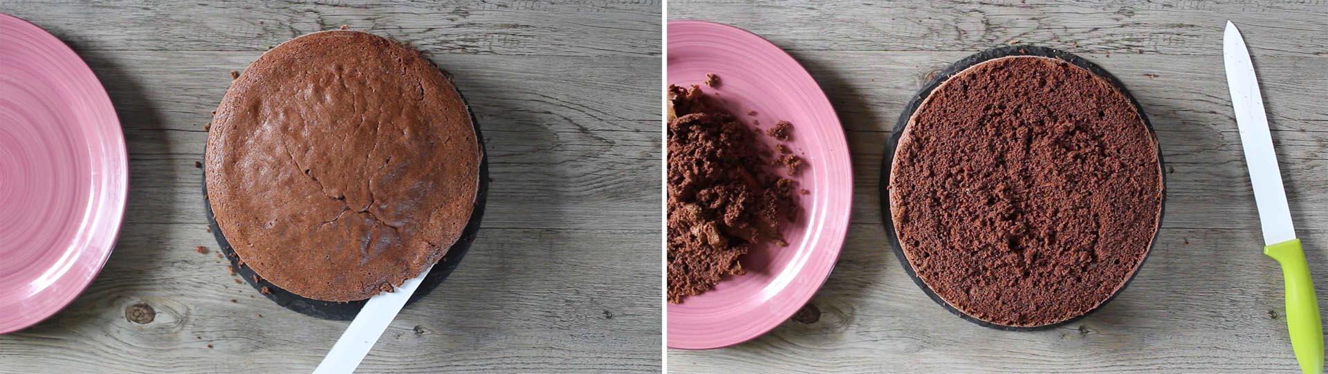 preparazione torta caffè cioccolato