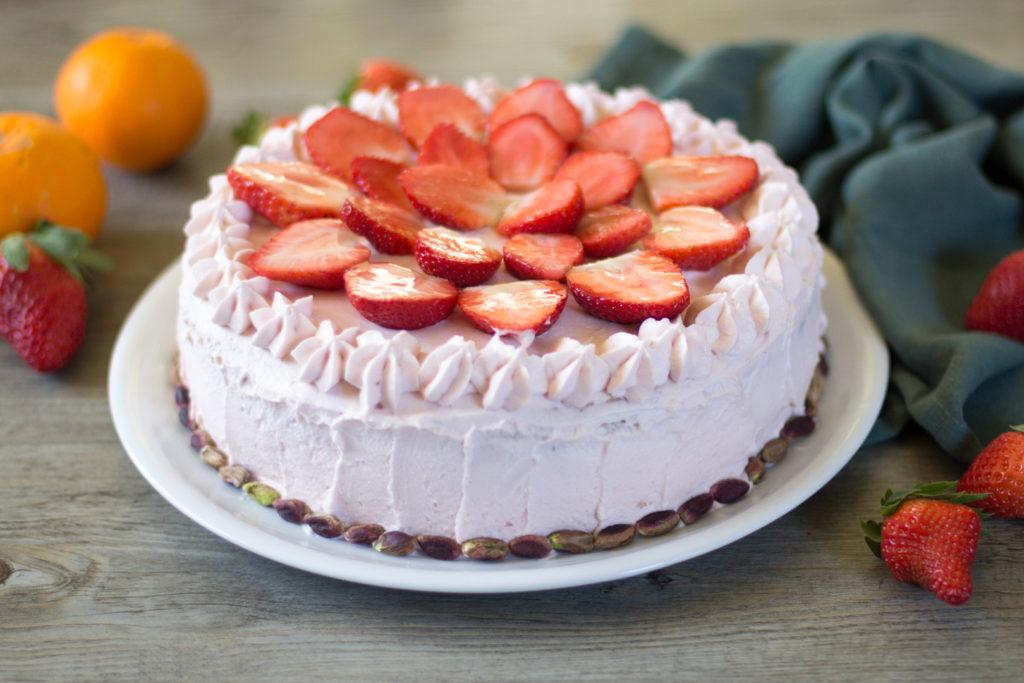 torta fragole arance