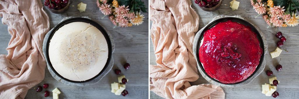 preparazione semifreddo ciliegie cioccolato bianco