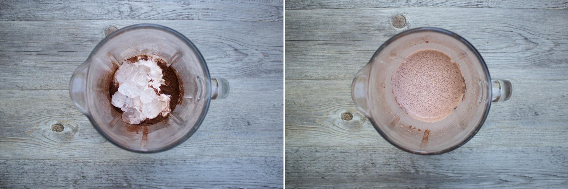 milkshake cioccolato nocciola preparazione