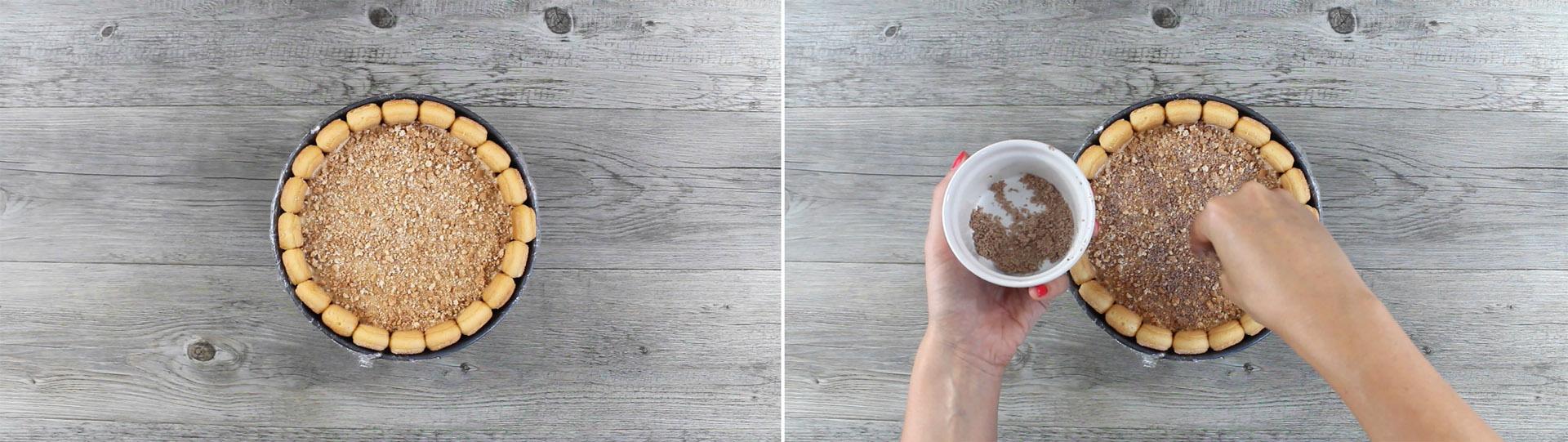 decorazione charlotte semifreddo cioccolato al latte e amaretti