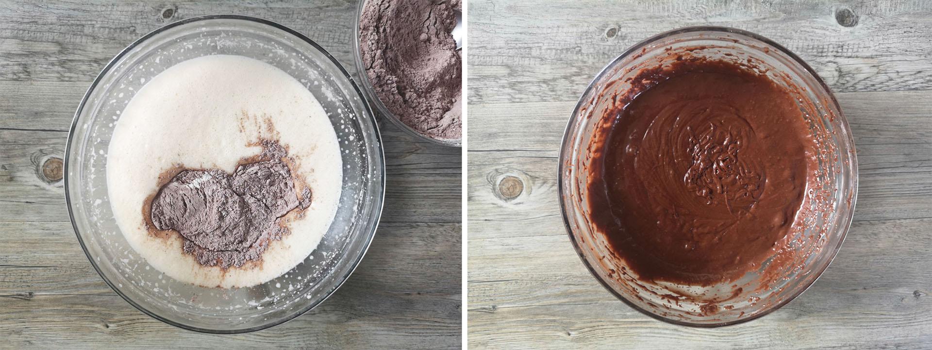 plumcake pere cioccolato con cacao